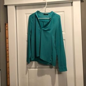 Small turquoise honey punch longsleeve blouse